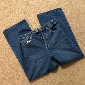 Free People High Rise Flare Jeans